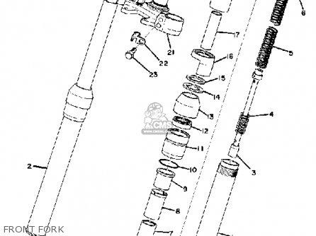 Yamaha DT100 1974 USA parts lists and schematics