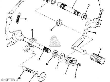 Yamaha Dt100 1974 Usa parts list partsmanual partsfiche