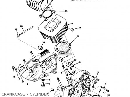 Yamaha Dt100 1975 Usa parts list partsmanual partsfiche