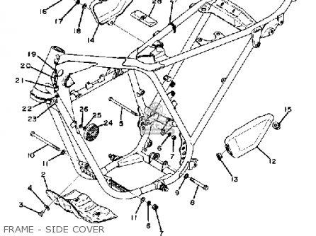 Yamaha Dt100 1975 Usa parts list partsmanual partsfiche