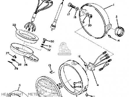 Yamaha DT100 1975 USA parts lists and schematics