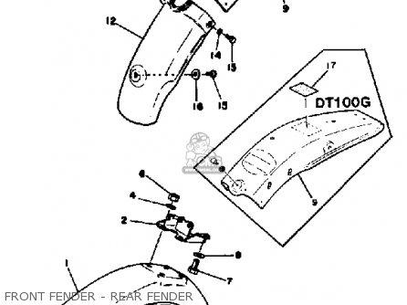 Yamaha Dt100 1980 (a) Usa parts list partsmanual partsfiche