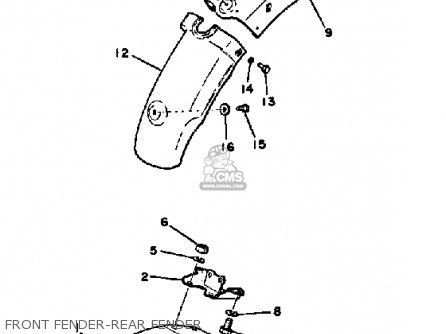 Yamaha Dt100 1981 (b) Usa parts list partsmanual partsfiche