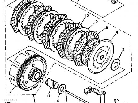 Yamaha Dt100 1982 (c) Usa parts list partsmanual partsfiche