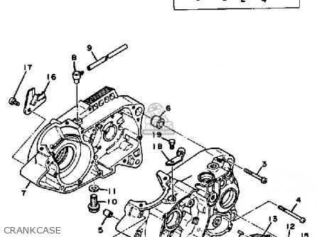 Yamaha Dt100 1982 (c) Usa parts list partsmanual partsfiche