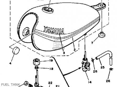 Yamaha Dt100 1983 (d) Usa parts list partsmanual partsfiche