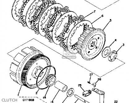 Yamaha Dt100a 1974/1975 parts list partsmanual partsfiche