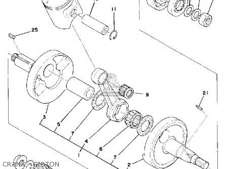 Yamaha Dt100d 1977 parts list partsmanual partsfiche