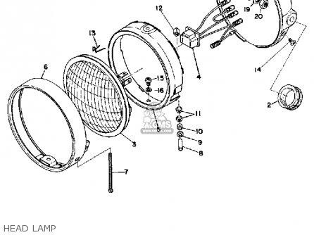 Yamaha Dt125 1974 Usa parts list partsmanual partsfiche