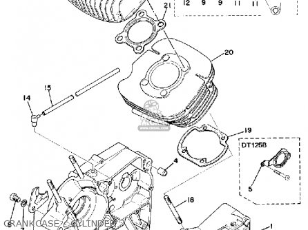 Yamaha Dt125 1975 Usa parts list partsmanual partsfiche