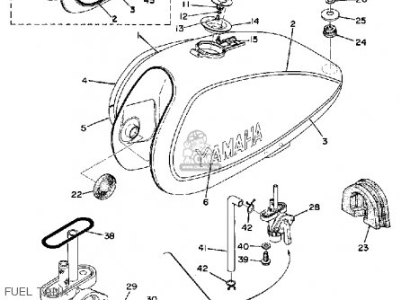 Yamaha DT125 1975 USA parts lists and schematics