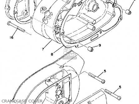 Yamaha DT125 1976 USA parts lists and schematics