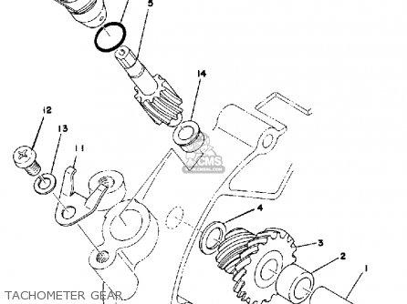Yamaha Dt125 1976 Usa parts list partsmanual partsfiche