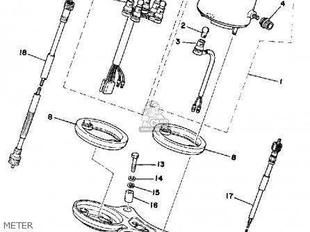 Yamaha Dt125 1978 Usa parts list partsmanual partsfiche