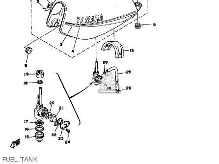 Yamaha Dt125 1979 Usa parts list partsmanual partsfiche
