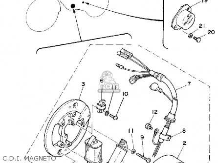 Yamaha DT125 1980 (A) USA parts lists and schematics
