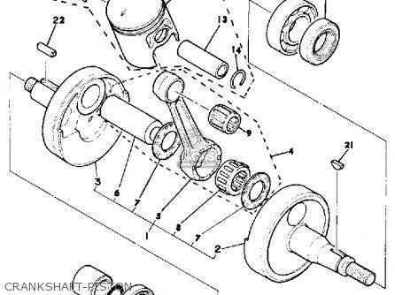 Yamaha Dt125 1981 (b) Usa parts list partsmanual partsfiche