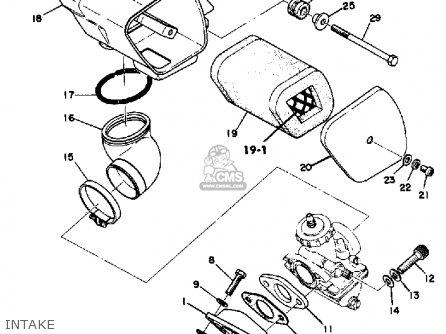 Yamaha Dt125a 1974/1975 parts list partsmanual partsfiche