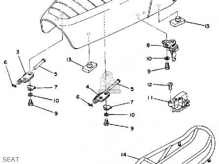 Yamaha Dt125c 1976 parts list partsmanual partsfiche