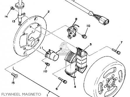 Yamaha Dt125e 1978 parts list partsmanual partsfiche