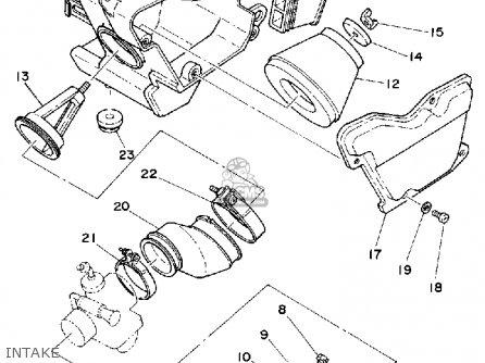 Yamaha Dt125g 1980 parts list partsmanual partsfiche