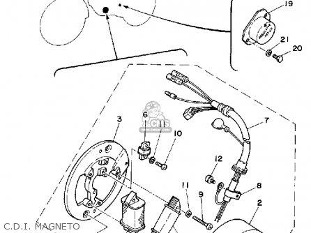 Yamaha Dt125h 1981 parts list partsmanual partsfiche