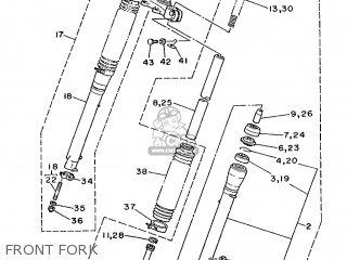Yamaha Dt125mx 1986 4j3 France 264j3-351f1 parts list