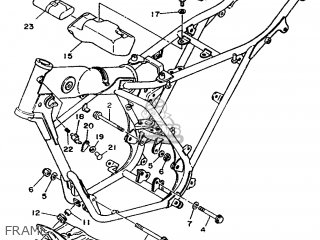 Yamaha DT125MX 1989 3SS1 BELGIUM 293SS-342E1 parts lists