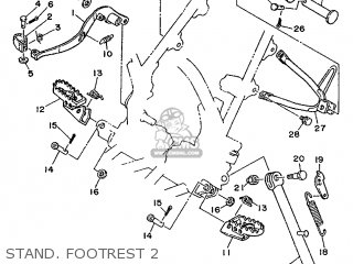 Yamaha DT125R (15.0PS) 1988 3BP1 FRANCE 283BN-351F1 parts