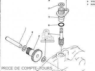 Yamaha Dt125r 1990 3nc2 France 203nc-351fa parts list