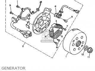 Yamaha DT125R 1993 3RN6 ENGLAND 233RN-310E1 parts lists