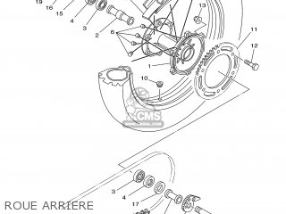 Yamaha DT125R 2002 3RML FRANCE 1A3RM-351FA parts lists and