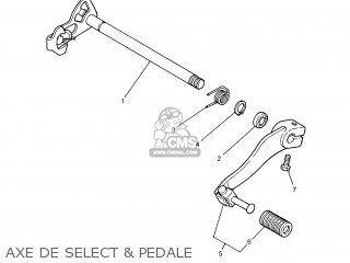 Yamaha DT125R 2004 1D01 FRANCE 1C1D0-351F1 parts lists and