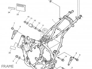 Yamaha DT125RE 2005 1D03 ENGLAND 1D1D0-310EA parts lists