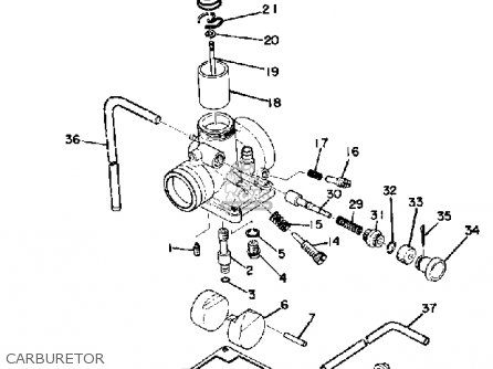 Yamaha DT175 1975 USA parts lists and schematics