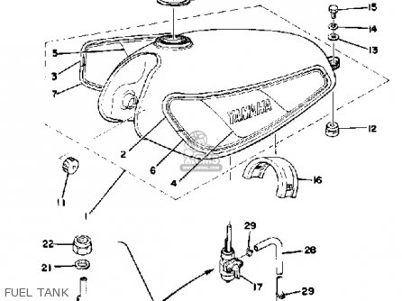 Yamaha DT175 1978 USA parts lists and schematics
