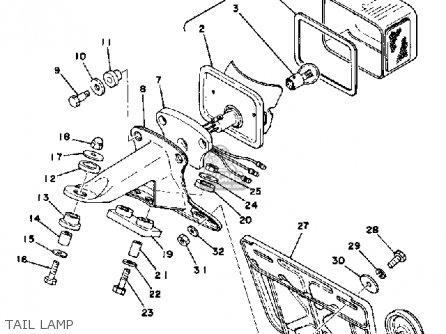 Yamaha Dt175 1978 Usa parts list partsmanual partsfiche