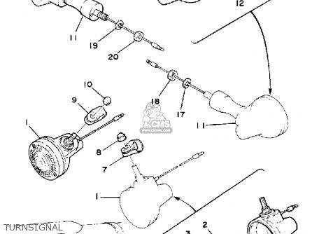 Yamaha Dt175 1980 (a) Usa parts list partsmanual partsfiche