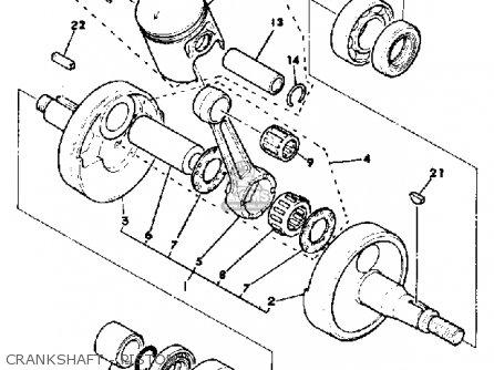 Yamaha Dt175 1981 (b) Usa parts list partsmanual partsfiche