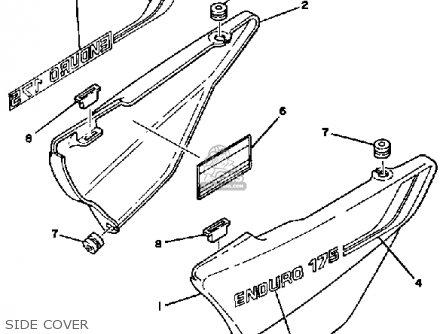 Yamaha DT175 1981 (B) USA parts lists and schematics