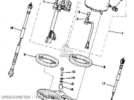 Yamaha Dt175e 1978 parts list partsmanual partsfiche