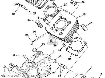 Yamaha Dt175f 1979 parts list partsmanual partsfiche