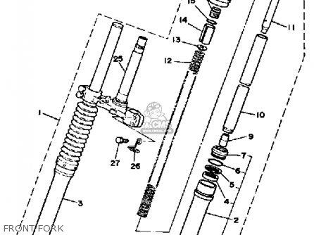 Yamaha Dt175h 1981 parts list partsmanual partsfiche
