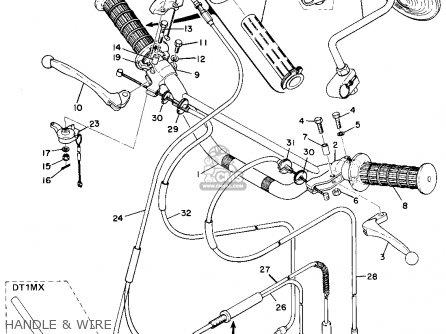 Yamaha DT1E 1971 USA parts lists and schematics