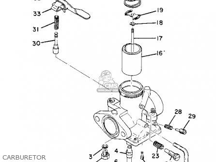 Yamaha Dt1mx 1971 parts list partsmanual partsfiche