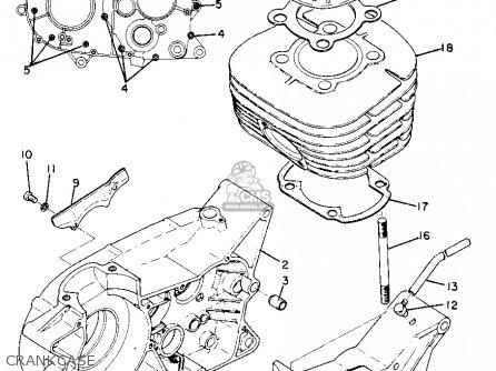 Yamaha Dt1mx 1971 Usa parts list partsmanual partsfiche