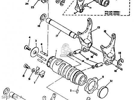 Yamaha Dt2 1972 1973 Usa parts list partsmanual partsfiche