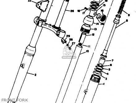 Yamaha Dt2 1972/1973 parts list partsmanual partsfiche
