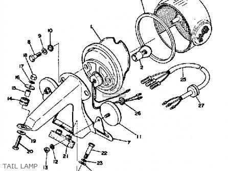 Yamaha Dt250 1974 Usa parts list partsmanual partsfiche