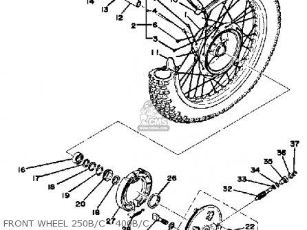 Yamaha DT250 1976 USA parts lists and schematics